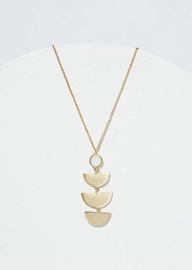 LOFT Half Circle Stone Pendant Necklace