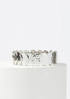 LOFT Hammered Disc Stretch Bracelet