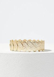 LOFT Hammered Disc Stretch Bracelet