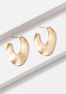 LOFT Hammered Hoop Earrings