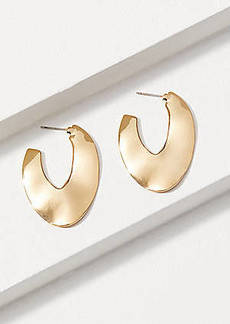 LOFT Hammered Hoop Earrings