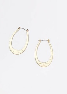LOFT Hammered Oval Hoop Earrings