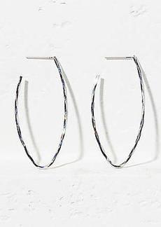 LOFT Hammered Oval Hoop Earrings