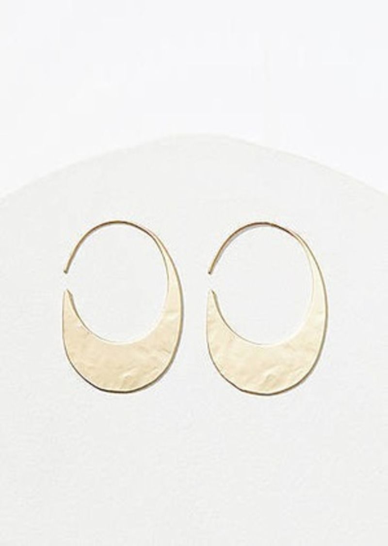 LOFT Hammered Pull Through Earrings