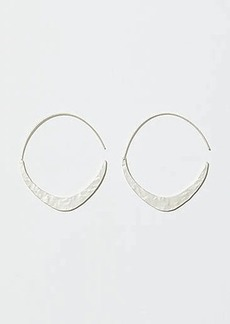 LOFT Hammered Pull Through Hoop Earrings
