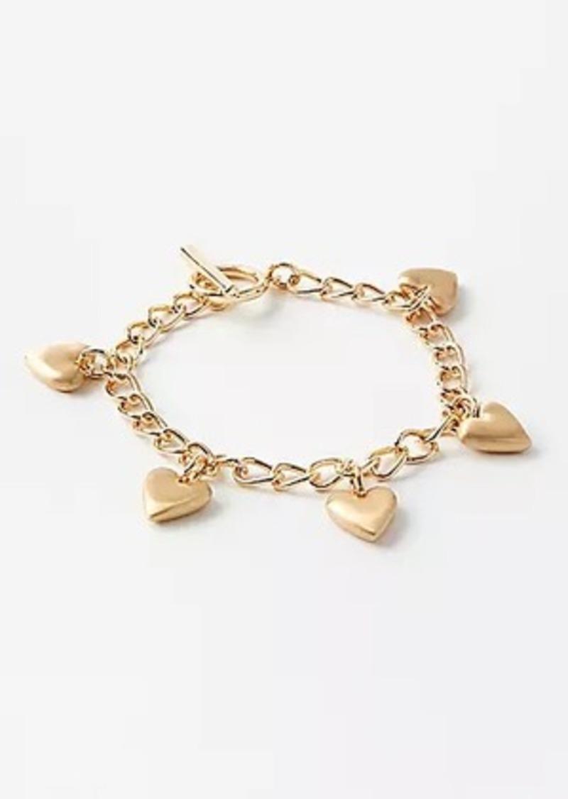 LOFT Heart Charm Statement Bracelet