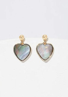 LOFT Heart Drop Earrings