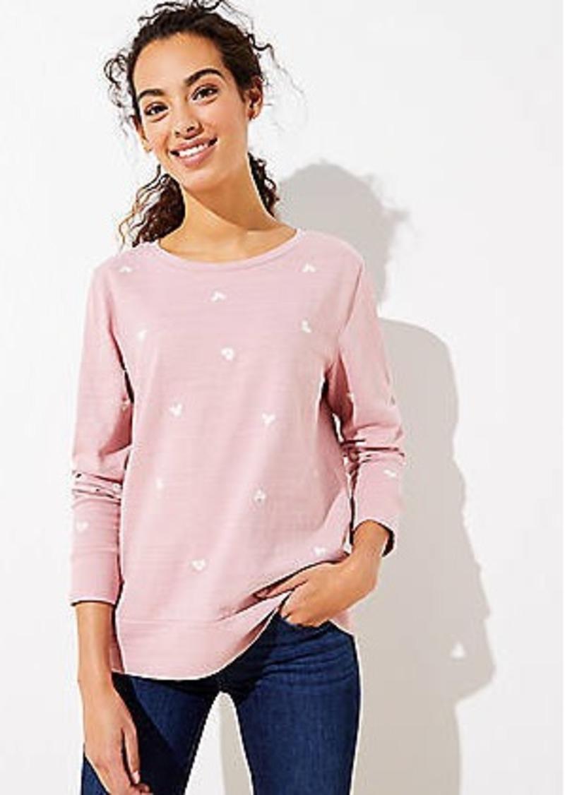 LOFT Heart Embroidered Sweatshirt