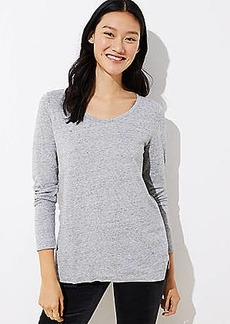 LOFT Heathered Long Sleeve Tunic Tee