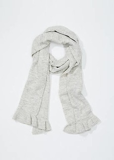 LOFT Heathered Ruffle Scarf