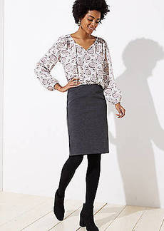 LOFT Herringbone Jacquard Pencil Skirt