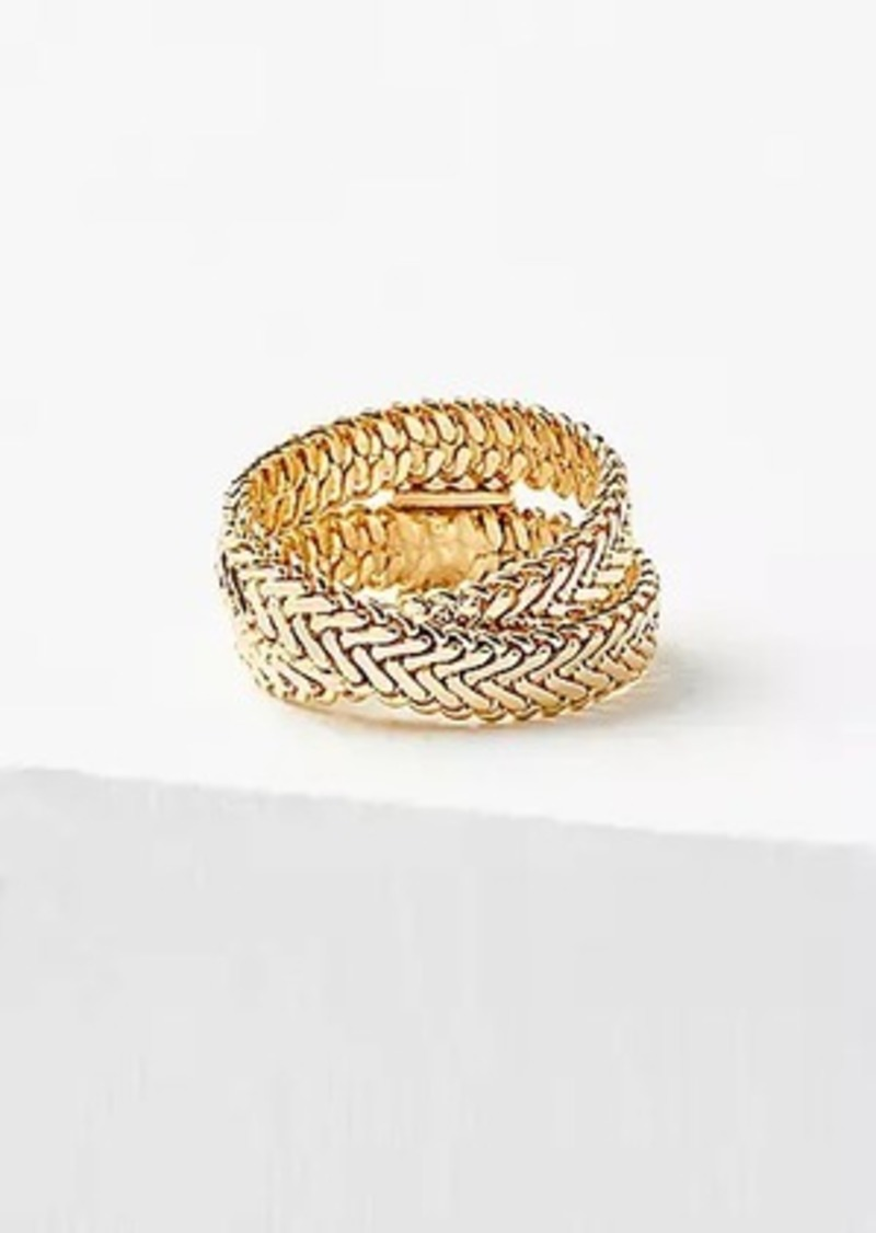 LOFT Herringbone Wrap Ring