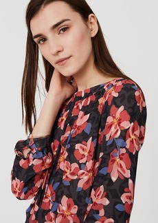 Hibiscus Shirred Blouse