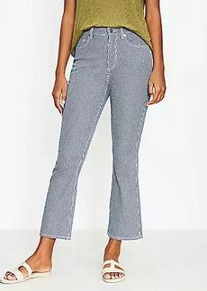LOFT High Rise Kick Crop Jeans in Indigo Stripe