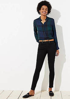 LOFT High Rise Skinny Jeans in Black