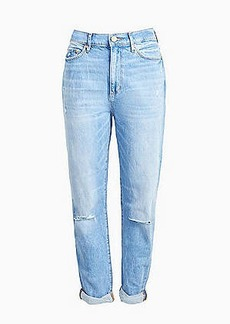 LOFT High Rise Slim Pocket Boyfriend Jeans in Vintage Light Indigo Wash