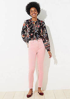 LOFT High Rise Slim Pocket Skinny Jeans in Blushing Pink