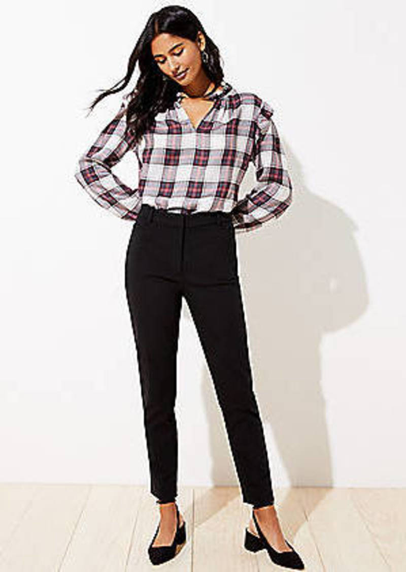 LOFT High Waist Skinny Ankle Pants