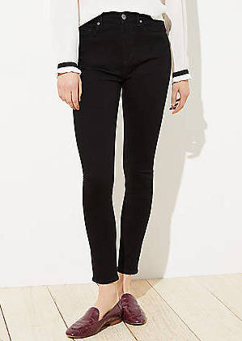 LOFT High Rise Skinny Jeans in Black