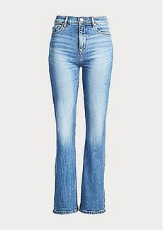 LOFT High Waist Slim Flare Jeans in Medium Light Authentic Indigo Wash