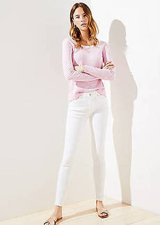LOFT High Rise Slim Pocket Skinny Jeans in White