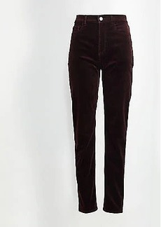 LOFT High Waist Straight Leg Corduroy Pants