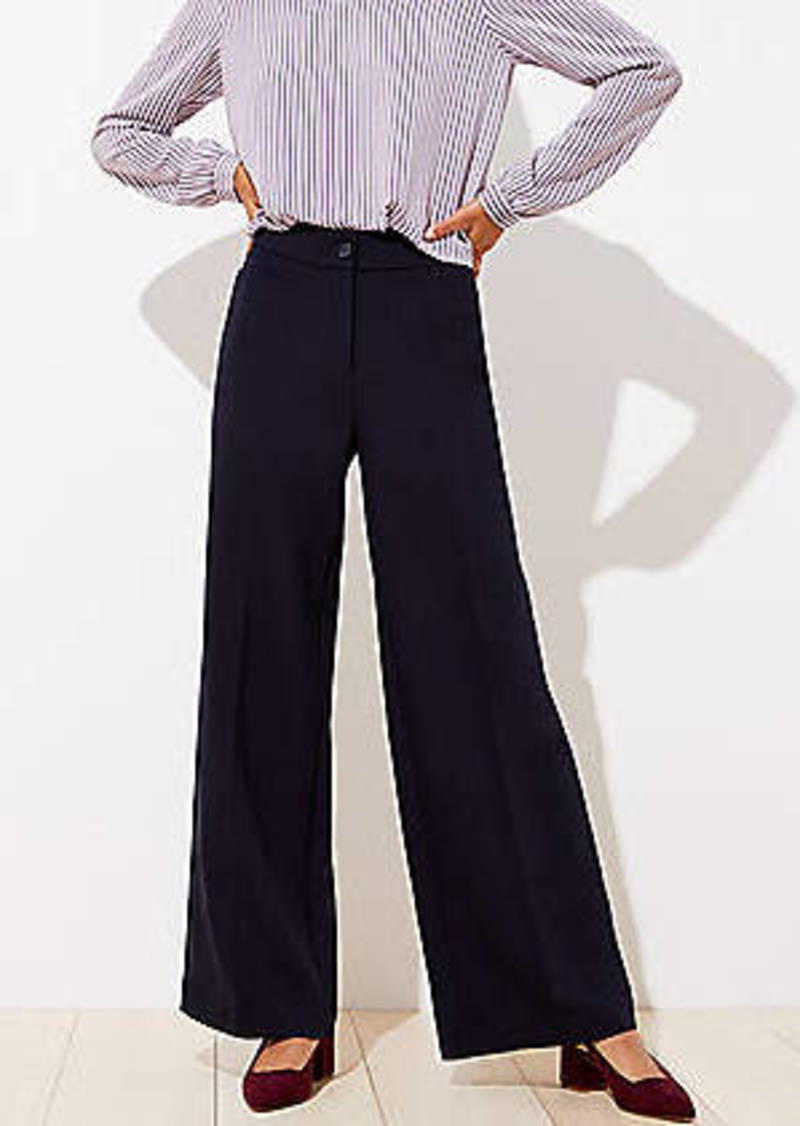LOFT High Waist Wide Leg Pants