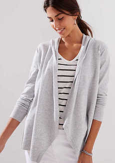 LOFT Hooded Open Cardigan
