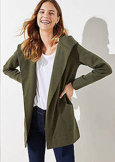 LOFT Hooded Pocket Open Cardigan