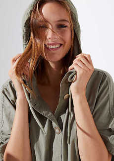 LOFT Hooded Poncho Jacket