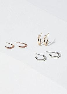 LOFT Huggie Hoop Earring Set