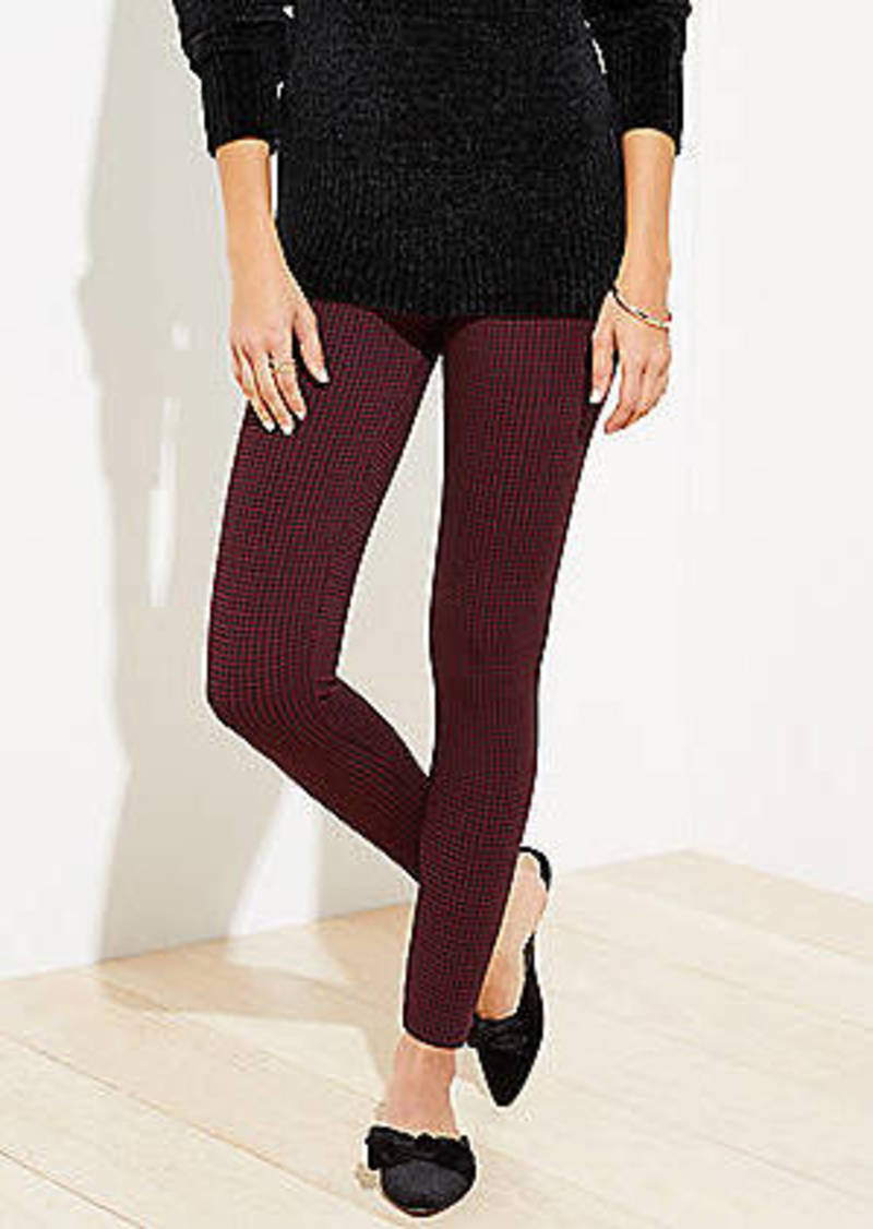LOFT Houndstooth Ponte Leggings