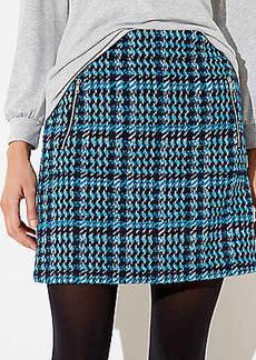 LOFT Houndstooth Shift Skirt