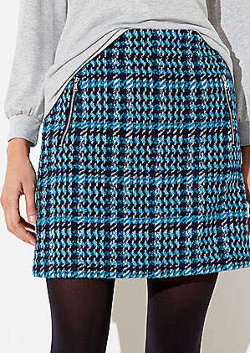 LOFT Houndstooth Shift Skirt