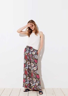 LOFT Hydrangea Garden Fluid Drawstring Pants