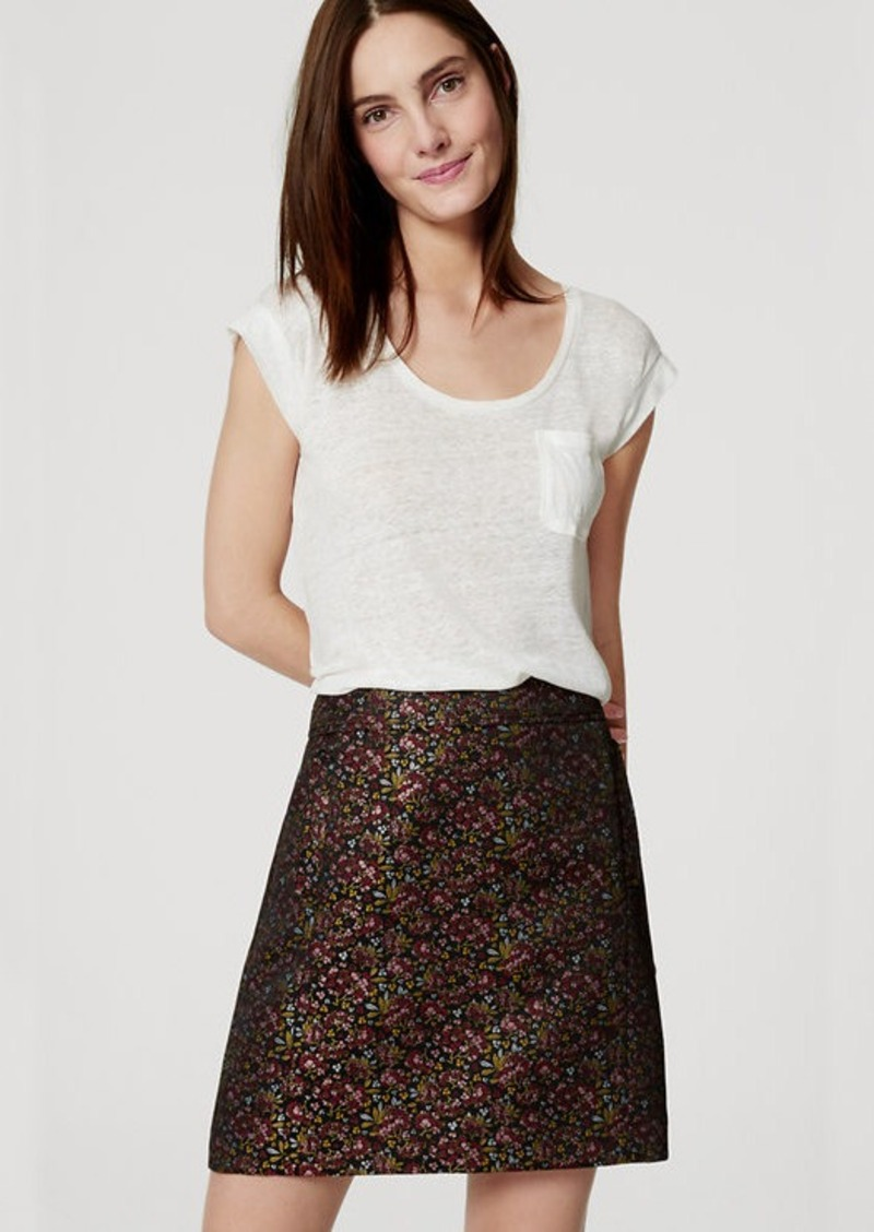 LOFT Hydrangea Pocket Shift Skirt