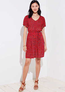 Ikat Tie Waist Flare Dress