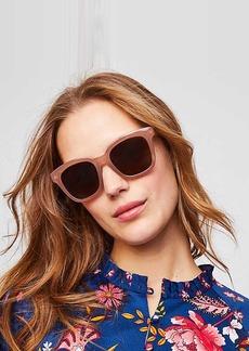 LOFT Iridescent Chunky Square Sunglasses