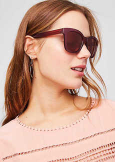 Iridescent Chunky Square Sunglasses