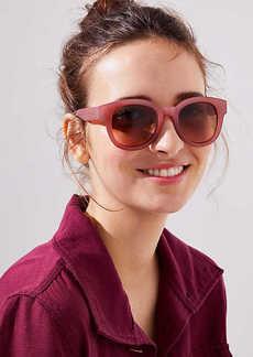 LOFT Iridescent Round Sunglasses