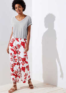 LOFT Island Party Wide Leg Crop Pants