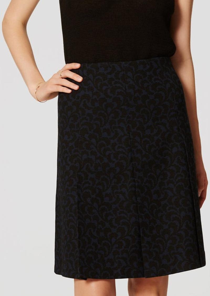 LOFT Ivy Jacquard Pleated Skirt