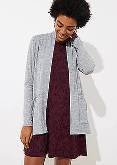 LOFT Jersey Pocket Open Cardigan