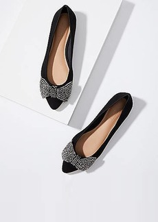 LOFT Jeweled Bow Flats
