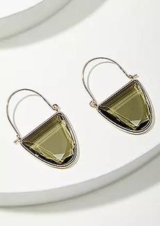 LOFT Jeweled Crescent Hoop Earrings