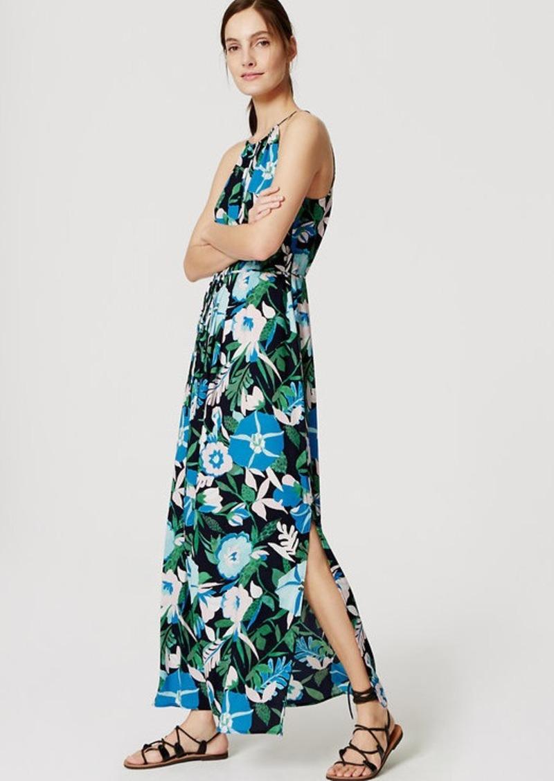 LOFT Jungle Floral Halter Maxi Dress
