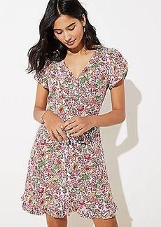 LOFT Jungle Ruffle Pocket Dress