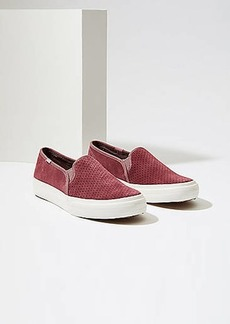 LOFT Keds Double Decker Perf Suede Sneakers