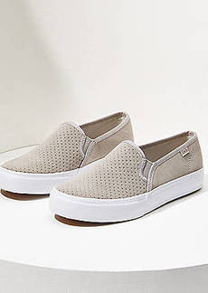 LOFT Keds Double Decker Perforated Suede Sneakers