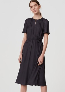 Keyhole Drawstring Dress